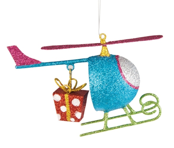- Christmas Tree Helicopter Ornament